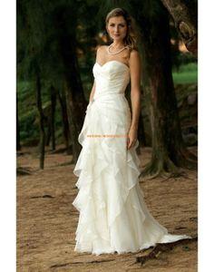 Aparte Bodenlange Hochzeitskleider aus Organza