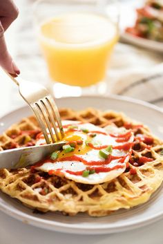 mashed potato waffles | designlovefest