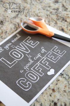 Coffee Free Printable