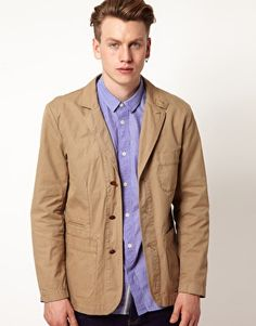 Fred Perry Blazer Twill in Beige for Men - Lyst Beige Blazer, Fred Perry, Asos Online Shopping, Latest Fashion Clothes, Raincoat, Women Wear, Jackets, Collection, Natural