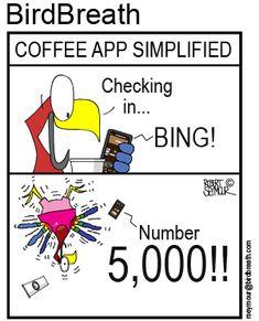BirdBreath t-shirts and merchandizse Funny Birds, Point Of View, Coffee Coffee, Cartoons, App, T Shirt, Life, Supreme T Shirt, Cartoon
