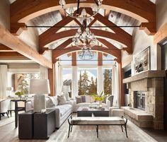 Дом в горах для наслаждения зимним отдыхом   Зимний деревянный дом фото