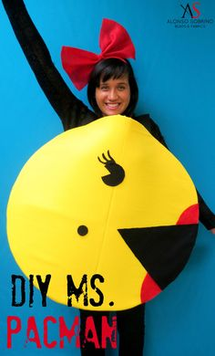 Alonso Sobrino Blog: DIY Miss. Pacman- Halloween Costume