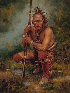 Artwork by Robert Griffing, General Johnson's Scout, Made of Oil on board Native American Face Paint, Native American Warrior, Native American Paintings, Native American Women, Native American Artists, American Spirit, American Indian Art, Native American History, Indian Paintings