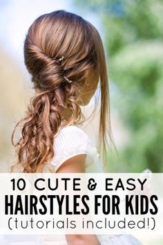 Sick of sending your kids to school with the same old pigtails and ponytails every morning? But thanks to these 10 cute and easy hairstyles for kids with tutorials, our daughters can now be the most stylish kids in class! Easy Braided Hairstyles For Long, Easy Hairstyles For School, Braids For Long Hair, Little Girl Hairstyles, Twist Hairstyles, Trendy Hairstyles, Natural Hairstyles, Picture Day Hairstyles, Tween Hairstyles For Girls