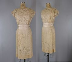 1950s lace dress. $128.00, via Etsy.