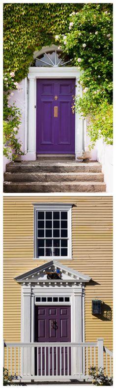 Purple Front Doors #homedecor #curbappeal