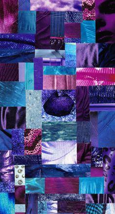 Analogous Colour Collage by Kristen Hutchison