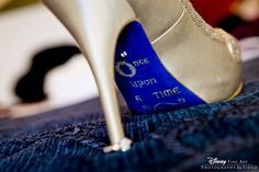 """""""Once upon a time"""" shoe bottoms #heels #wedding"""
