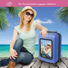 20 in. hardside luggage that's easy to personalize to your own liking!