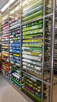 Fabric selection at Marimekko Helsinki store