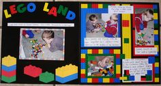 This is my DS playing with his best friend.how they LOVED to play with Legos! I bought the paper and legos a LONG LONG tim ago from DCWV at a convention I think. I read the qoute on the quote challenge. School Scrapbook, Disney Scrapbook Pages, Kids Scrapbook, Scrapbook Sketches, Scrapbook Page Layouts, Scrapbooking Ideas, Lego Disney, Walt Disney, Happy Birthday Baby