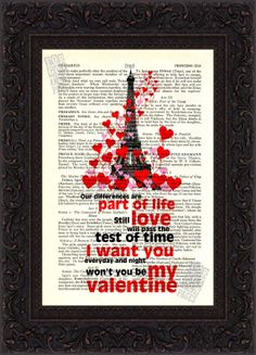 Nils Lofgren Be My Valentine  Paris  love   by ForgottenPages, $8.00