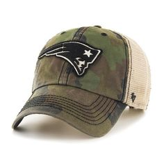 50f6a09c9c8 New England Patriots 47 Brand Green Howitzer Camo Burnett Adjustable H –  Sporting Up New England