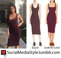 Buy Kylie Jenner's Burgundy Tank Dress, here!