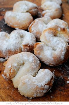 Flakes of snow recipe Sicilian biscuits with almonds vickyart art in the kitchen