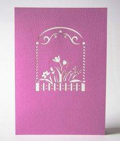 Flower garden pop up card – Lovepop