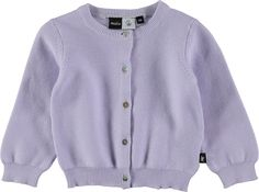 Ginny - Purple Heather - long sleeve purple cardigan with buttons