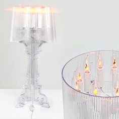 Kartell's Bourgie Lamp Re-imagined by 14 Designers for the 10th Anniversary which will each be auctioned online for charity. | if it's hip, it's here #EugeniQuillet