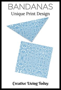 Bandanas for Your Hair, Outfit or Your Dog in a Unique Blue Geometric Print Design Christmas Gifts For Kids, Kids Gifts, Cute Birthday Gift, Presents For Kids, Childrens Gifts, Bridesmaids And Groomsmen, Personalized Christmas Ornaments, Fun Activities For Kids, Business For Kids