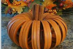 Easy pumpkin/cinnamon decor