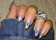 press on nails never looked so fancy [ombre fade holographic nails by nhqlondon] #luxelife #style