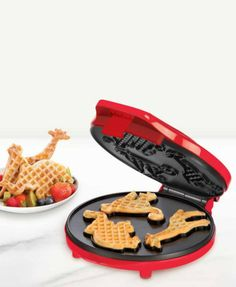 Circus animal-shaped waffles! Not that creative but it can be with the surroundings of animals on the plate or the stories you can tell about them!