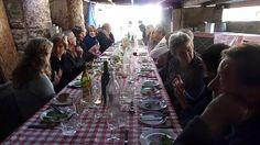 Oatley Vineyard, Somerset, UK. Kernling harvest supper 2011