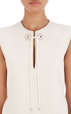 Balenciaga Sleeveless Canvas Top - Blouses - Barneys.com