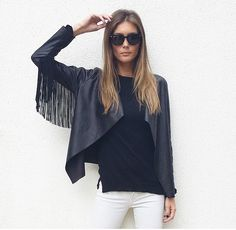 Joana Freitas You Are Beautiful, Bell Sleeve Top, Ruffle Blouse, Chic, My Style, Jackets, How To Wear, Clothes, Beauty