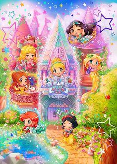 Amazon   500ピース ジグソーパズル ファンタスティカルアート ディズニープリンセス リトルテイスト~ちいさなお城のお姫さま~(35x49cm)   ジグソーパズル   おもちゃ