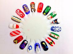 Christmas nail art wheel by me.