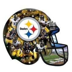NFL Pittsburgh Steelers 500 Piece Helmet Puzzle Officially Licensed by NFL Special Shaped Pieces Jigsaw Puzzle Pittsburgh Steelers Helmet, Steelers Pics, Steelers Stuff, Football Team, Football Helmets, Steel Curtain, Shape Puzzles, Nfl Logo, Steeler Nation