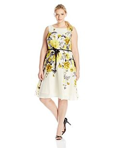 Gabby Skye Women's Plus-Size Fit and Flare Floral Printed... http://www.amazon.com/dp/B016DTXQ02/ref=cm_sw_r_pi_dp_vnsgxb0EE8D71