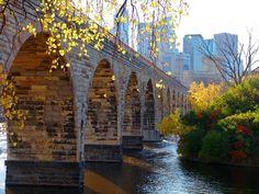 Minneapolis, MN--stone arch walking bridge (used to be a bridge for the train)