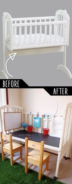 DIY Furniture Hacks | Repurposed Cot | Cool Ideas for Creative Do It Yourself Furniture Made From Things You Might Not Expect - http://diyjoy.com/diy-furniture-hacks: