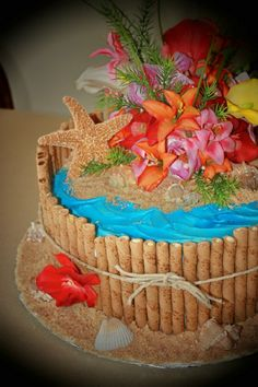 I like the idea of wrapping the cake with those yummy wafer sticks XD