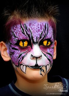 Gallery 2013 - Sparkling Faces. Face painting. Colors sale. Courses.  #colors #courses #faces #gallery #painting #sparkling Halloween Makeup For Kids, Haloween Makeup, Kids Makeup, Halloween Looks, Monster Face Painting, Dragon Face Painting, Face Painting Colours, Face Painting Designs, Snake Face Paint