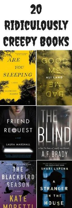 20 creepy books for adults, including books for Halloween. These thrillers, mystery, and horror books have plenty of twists and suspense.