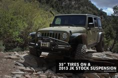 """We took a stock 2013 Jeep Wrangler Rubicon and threw our Flat Style Flares and 35""""x12.5"""" KM2 M/T's on it, and put it to the test at the Big Bear Jeep Jam!"""