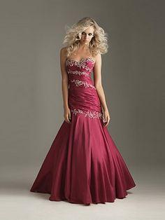 (NO.0250356)2012 Style Trumpet / Mermaid Sweetheart  Beading  Sleeveless Floor-length Taffeta  Prom Dresses / Evening Dresses