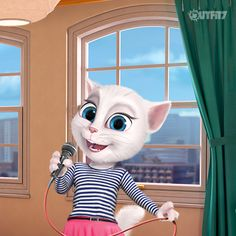 Karaoke is one of my FAVORITE ways to sing! It's also the one time I can share the stage with my wonderful friends. xo, Talking Angela #LittleKitties #BFF #Karaoke #Singing #Music #Raiseyourvoice #Fun #Songs #Singer #Friendship #Together