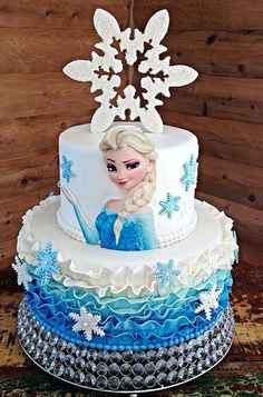 Edible Stand Up Elsa for side of cake Elsa edible by RandysFunShop