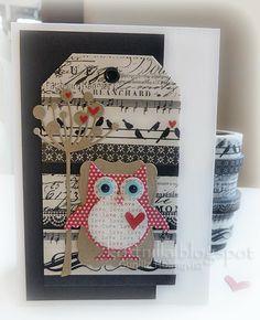 Very cute washi tape owl card