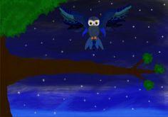 Flying owl drawing #Art