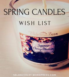 Hello everyone! This week on my blog I posted a list of must-have candles for Spring. I hope these beautiful fragrances will inspire a feeling of renewal as the warmer seasons are on the horizon. 💐🌷🌸🌺