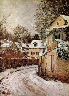 Post Impressionism, Impressionist, Sisley Alfred, French Art, Rue, Art History, Les Oeuvres, Landscape Paintings, Artist