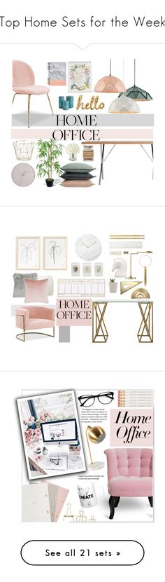 """Top Home Sets for the Week"" by polyvore ❤ liked on Polyvore featuring interior, interiors, interior design, home, home decor, interior decorating, Design Within Reach, Bombay Duck, Rifle Paper Co and ferm LIVING"