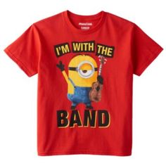 "Despicable Me Minions ""I'm With The Band"" Tee - Boys 8-20"