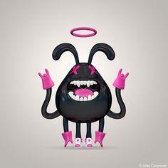 mascotte / character design 3D by julien canavezes